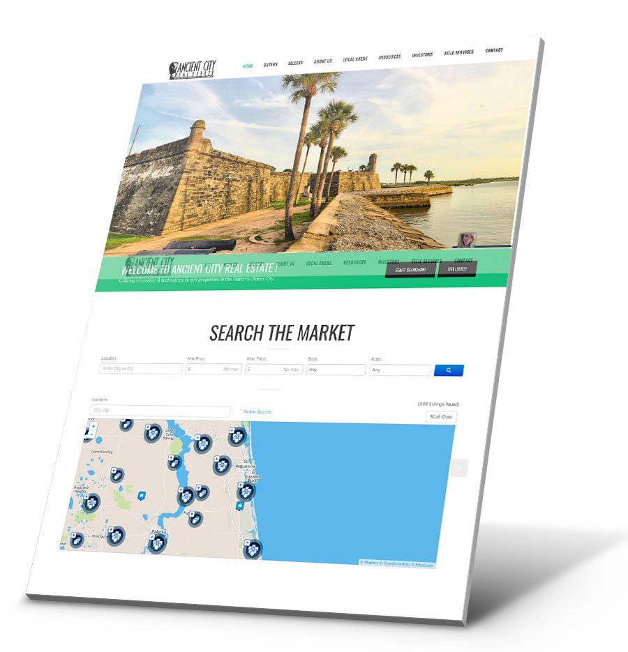 Ancient City Real Estate WordPress Website Design