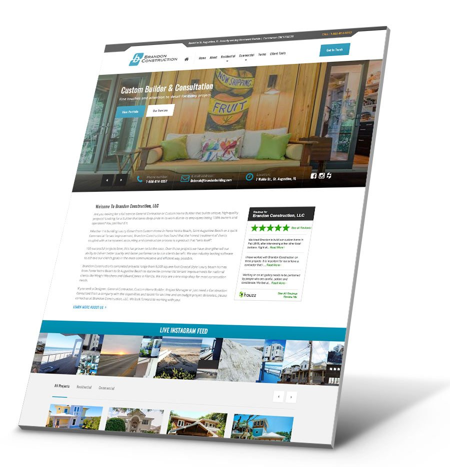 Brandon Building WordPress Website Design