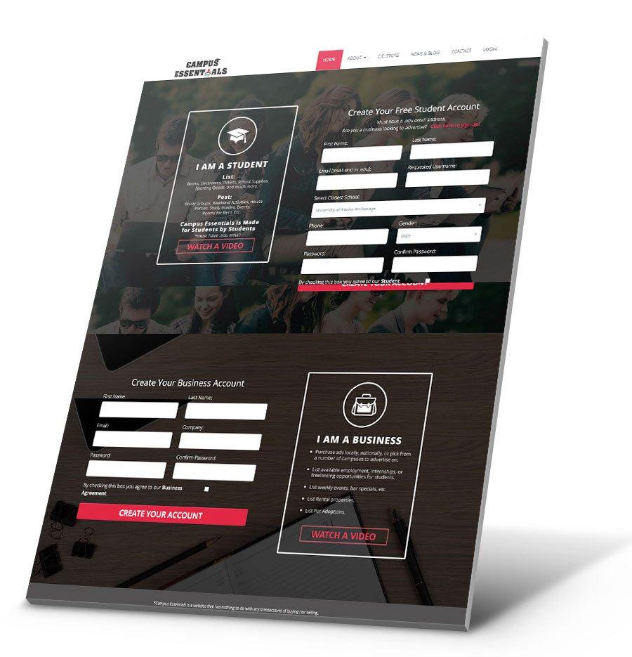 Campus Essentials WordPress Website Design