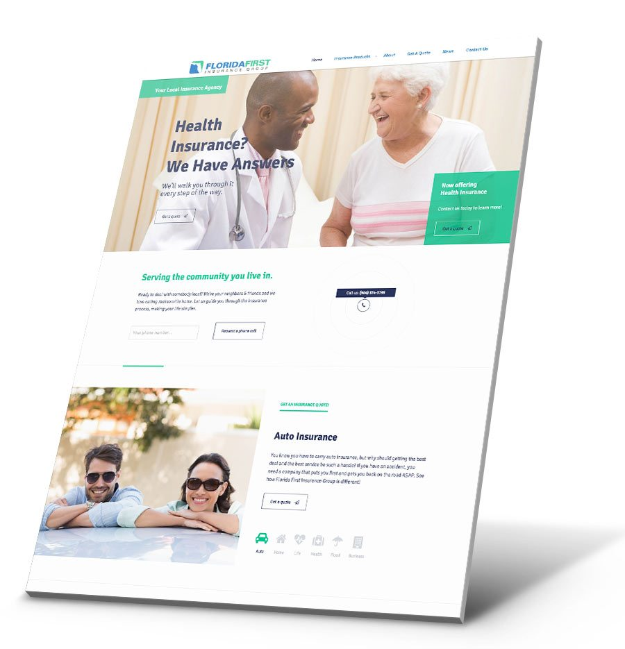 Florida 1st Insurance WordPress Website Design