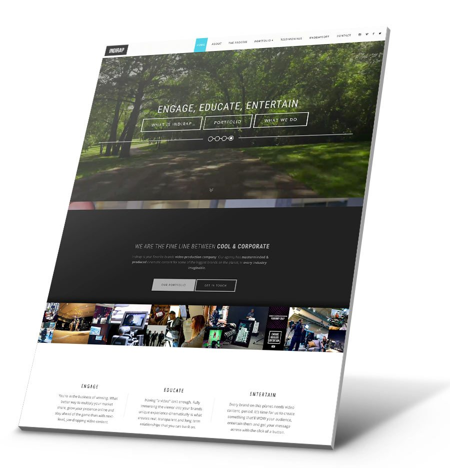 Indirap Productions WordPress Website Design