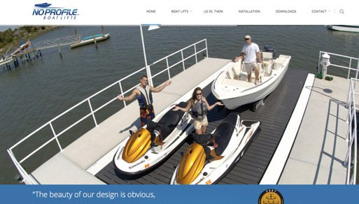 No Profile Boat Lifts Local Website Design Project