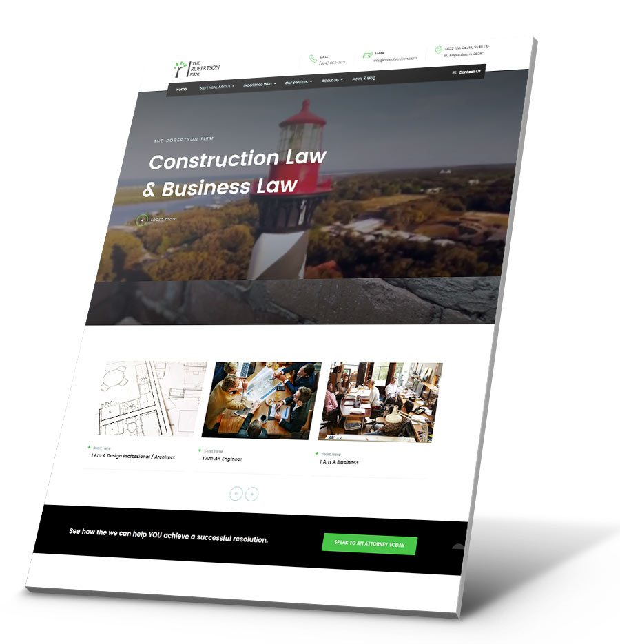 The Robertson Firm WordPress Website Design