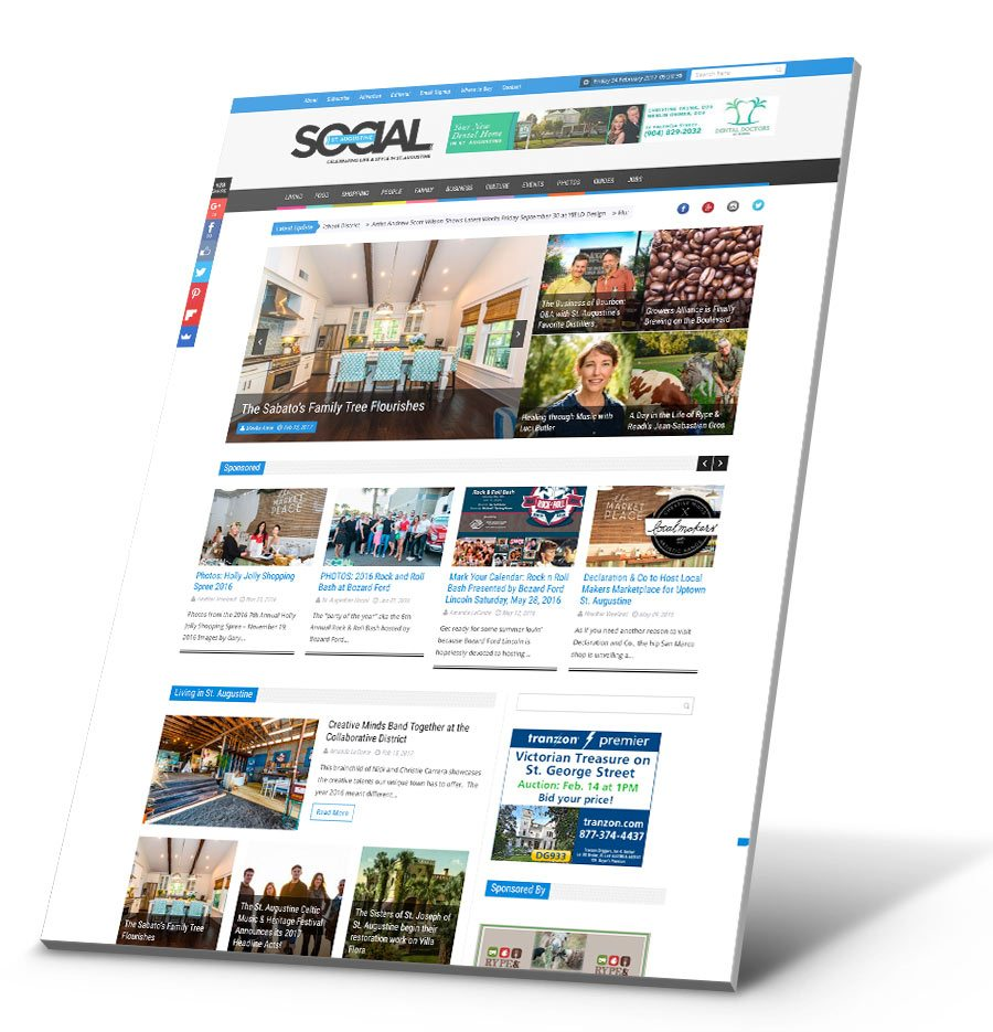St. Augustine Social WordPress Website Design