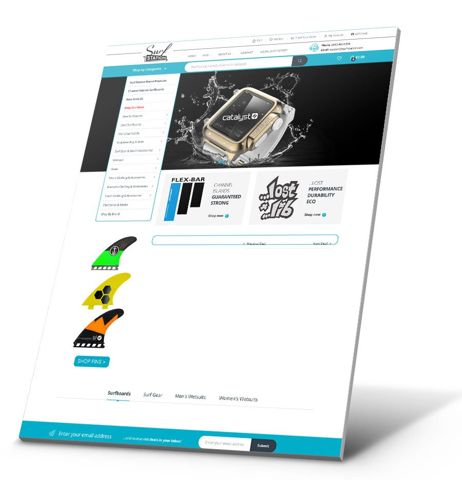 Surf Station Store WordPress Website Design