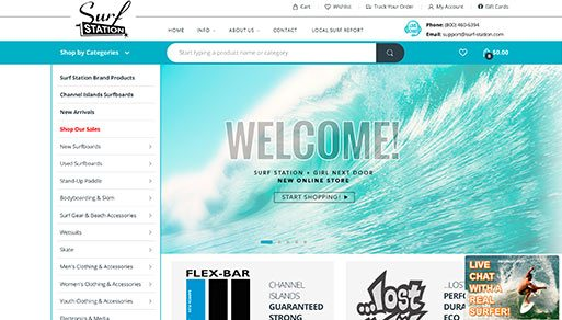 Surf Station Store Local Website Design Project