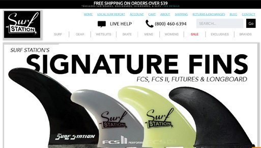 Website Design Project: Surf Station Store