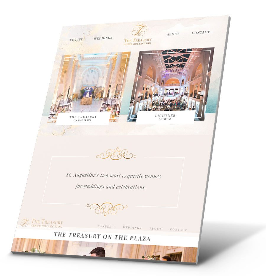 Treasury Venue Collection WordPress Website Design