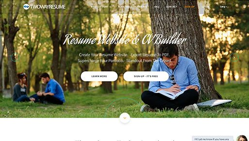 Two Way Resume Local Website Design Project