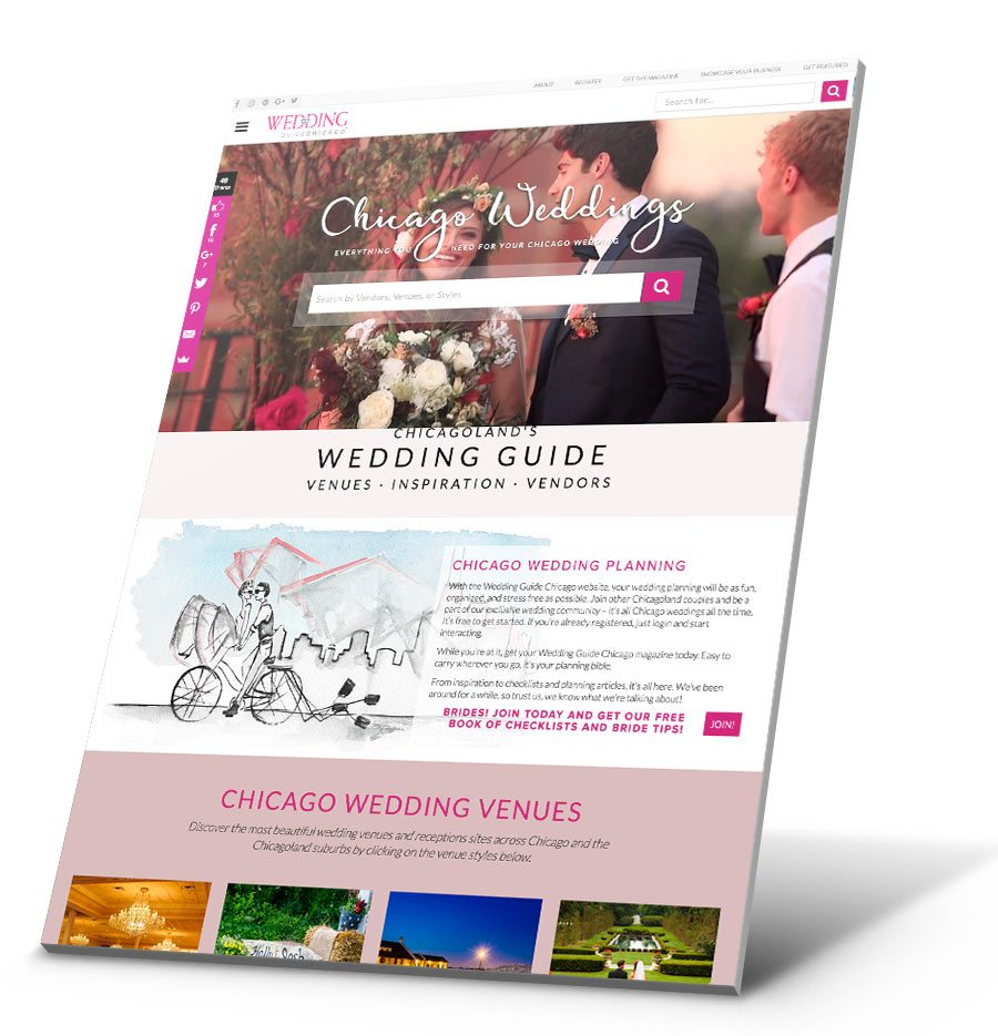 Wedding Guide Chicago WordPress Website Design
