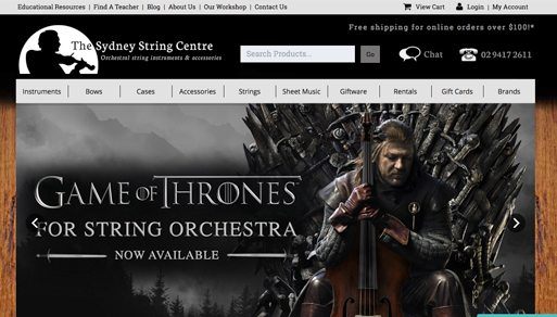 Sydney String Company Local Website Design Project