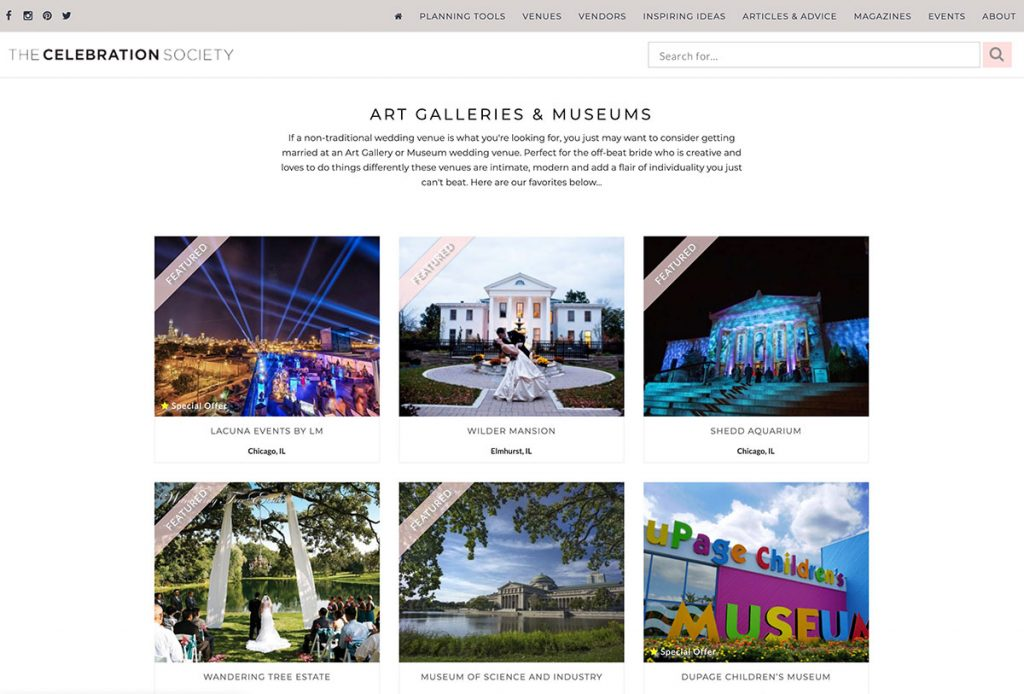 The Celebration Society Project Gallery