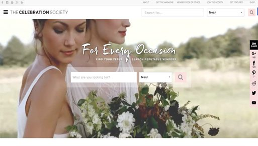 Website Design Project: The Celebration Society