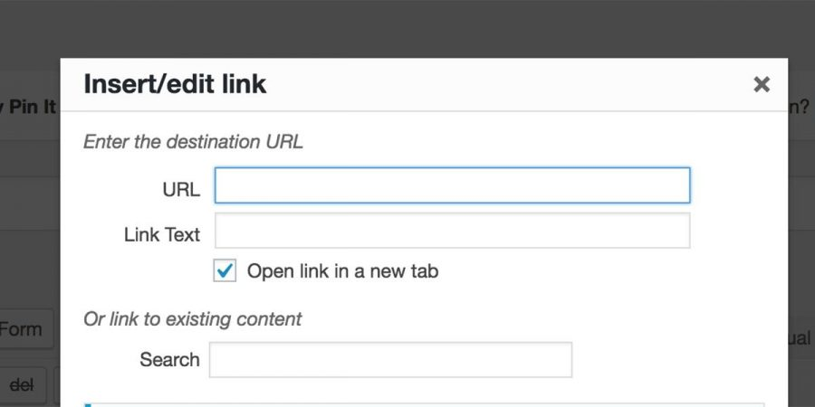 WordPress Content Editor Default Links To New Tab/Window Featured Image
