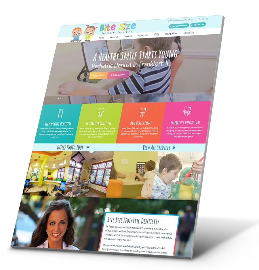 Bite Size Pediatric Dentistry WordPress Website Design