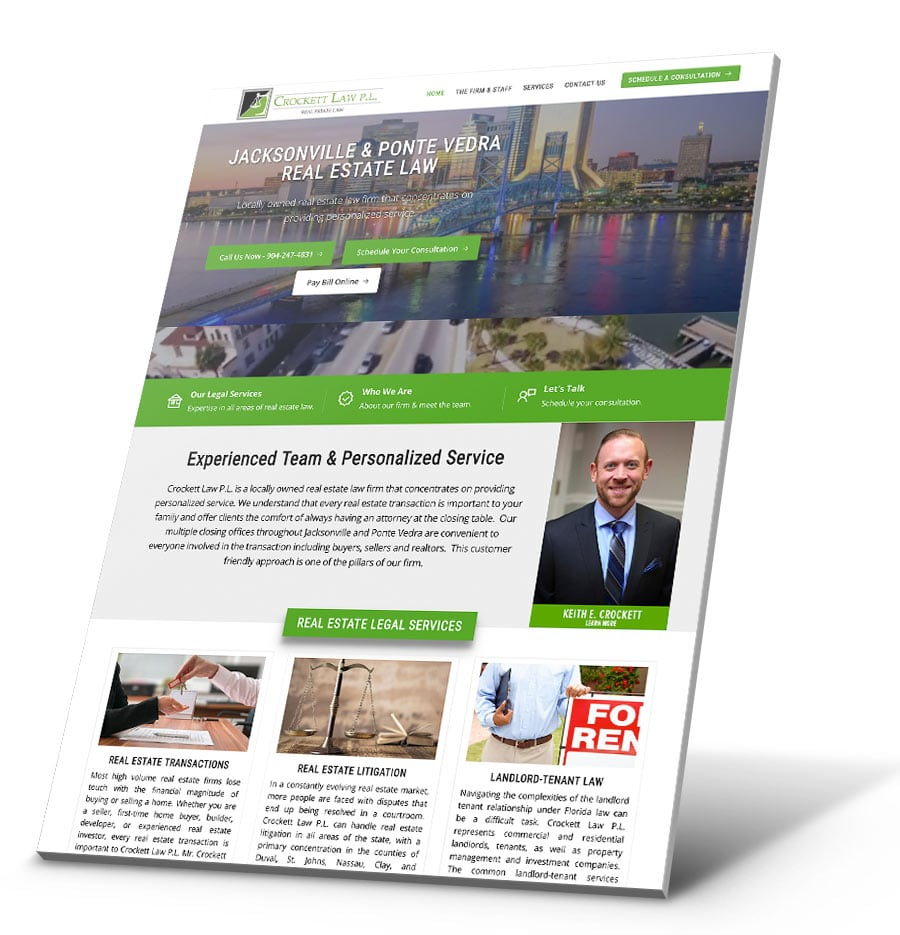 Crockett Law WordPress Website Design