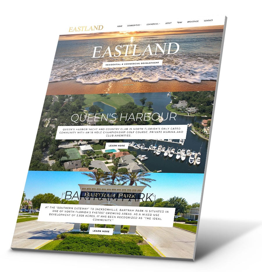 Eastland Partners WordPress Website Design
