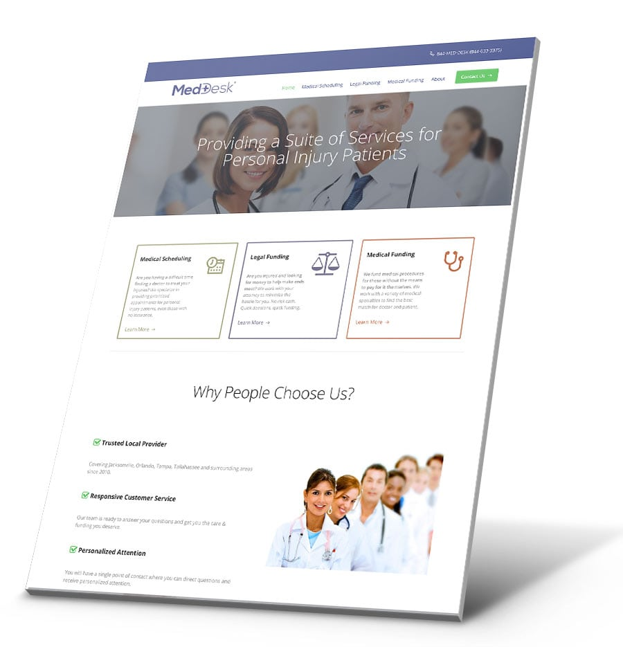 MedDesk WordPress Website Design