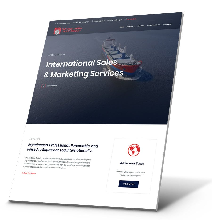 Northern Gulf Group WordPress Website Design
