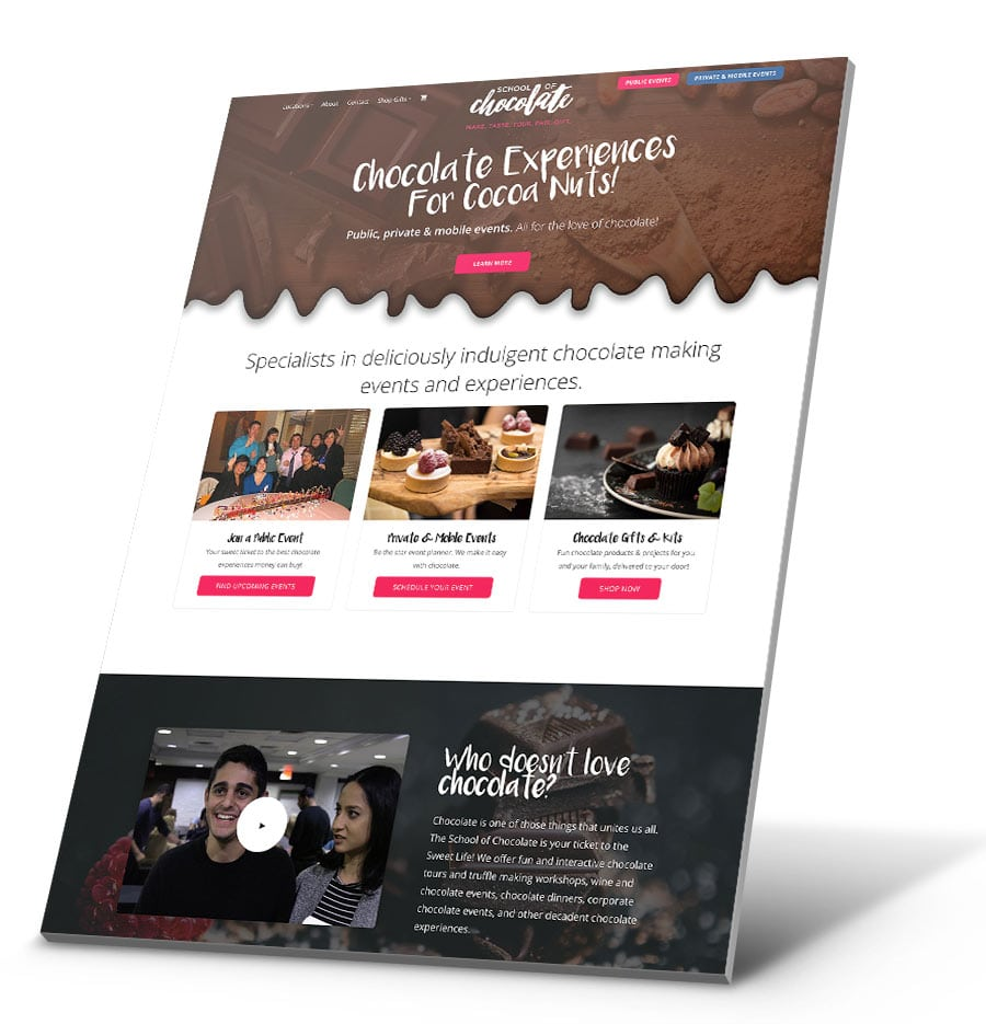 School of Chocolate WordPress Website Design