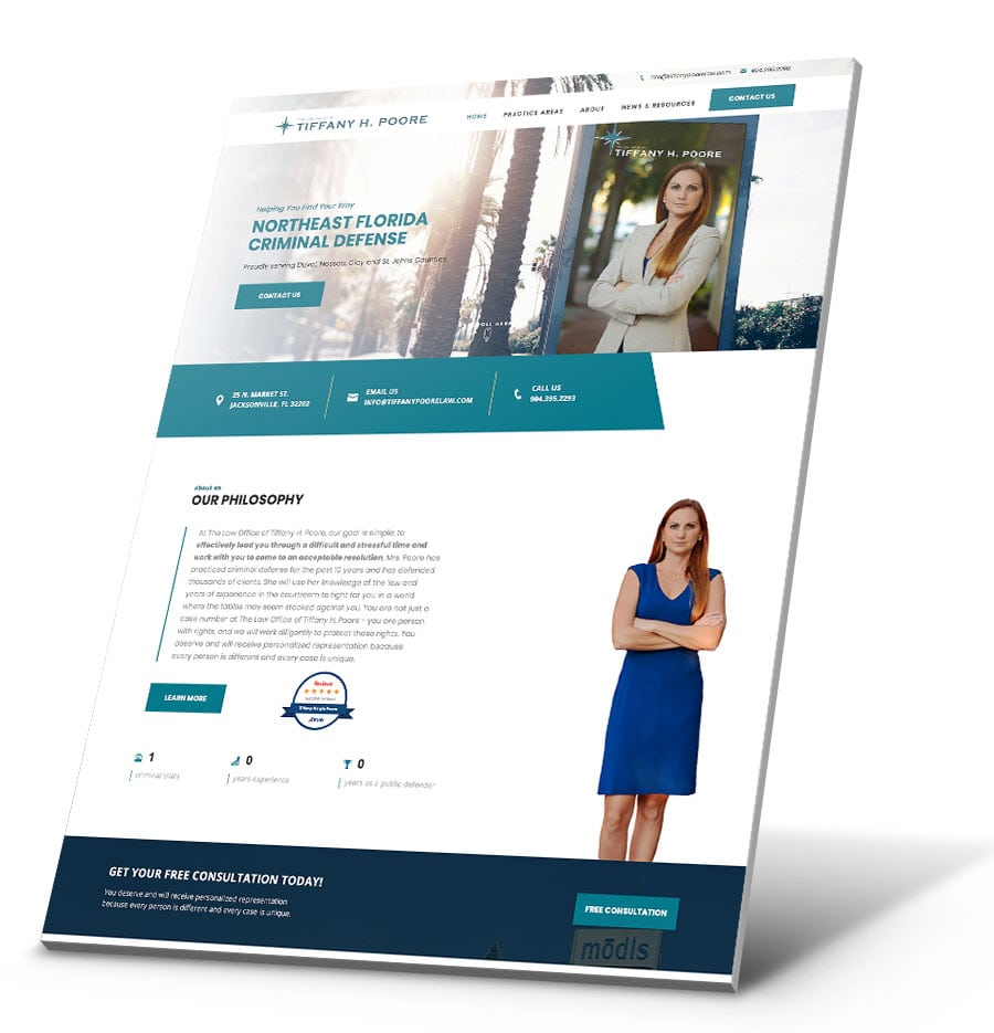 Law Office of Tiffany H. Poore WordPress Website Design