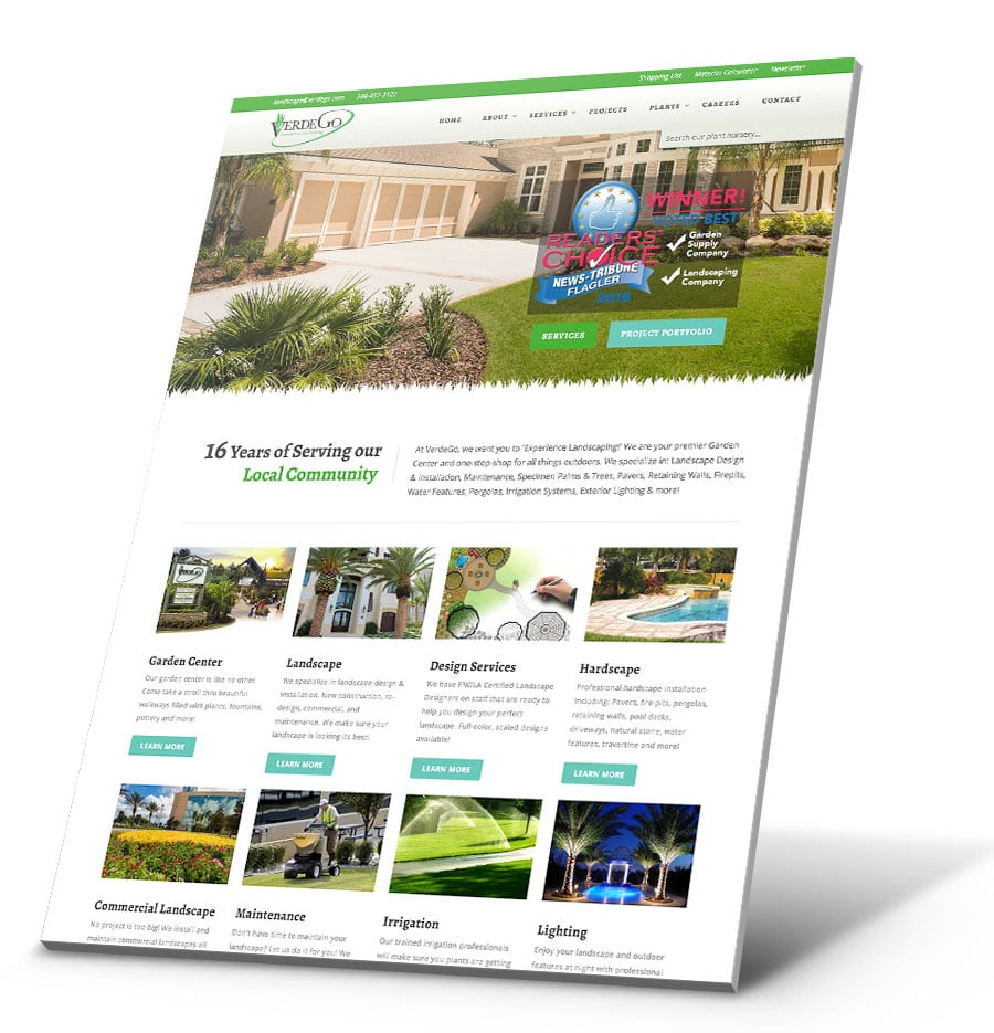 VerdeGo WordPress Website Design