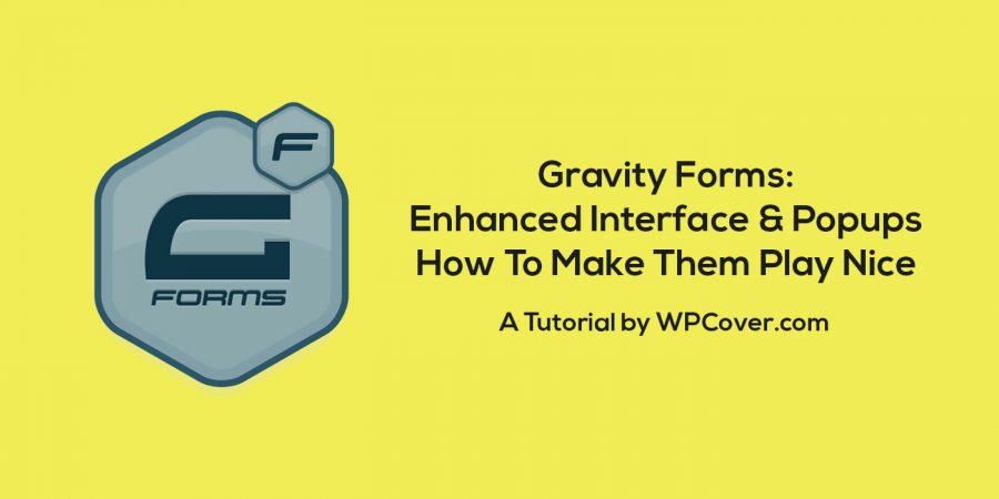 Featured Image Gravity Forms Enhanced User Interface Not Working In Popup