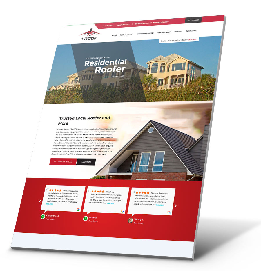 1Roof WordPress Website Design
