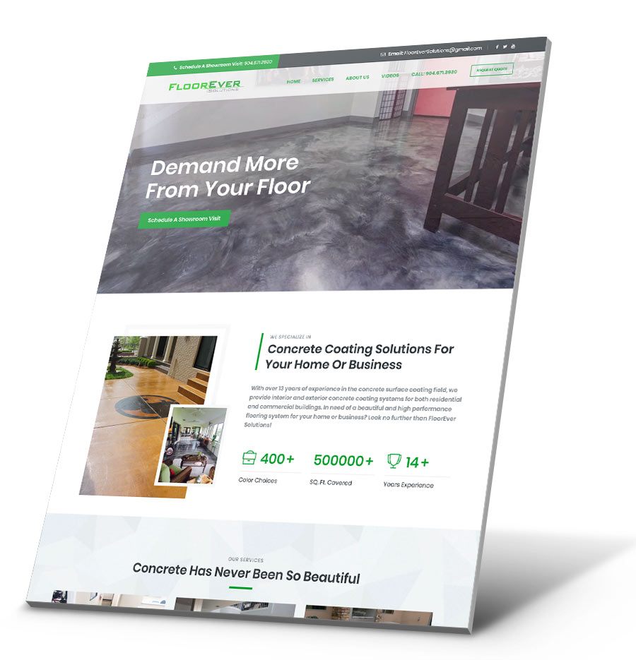Floorever WordPress Website Design