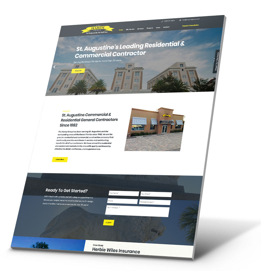 The Hardy Group WordPress Website Design