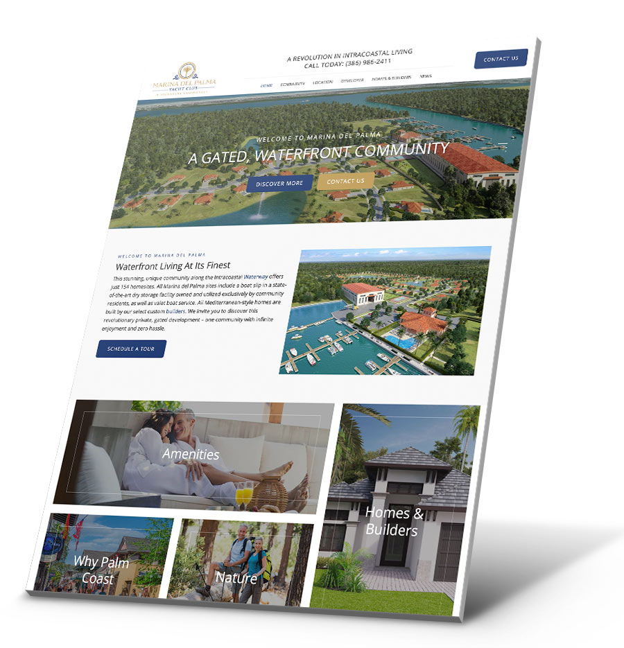 Marina Del Palma WordPress Website Design