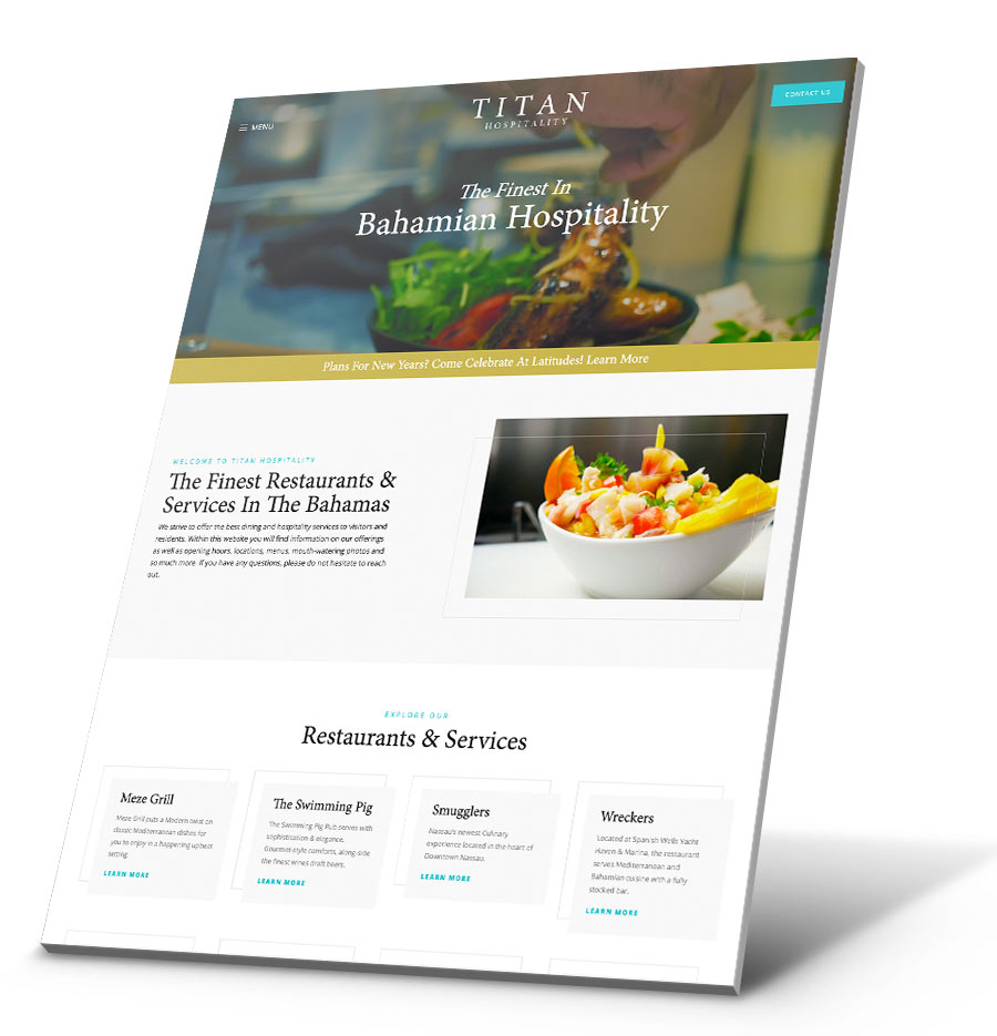Titan Hospitality WordPress Website Design