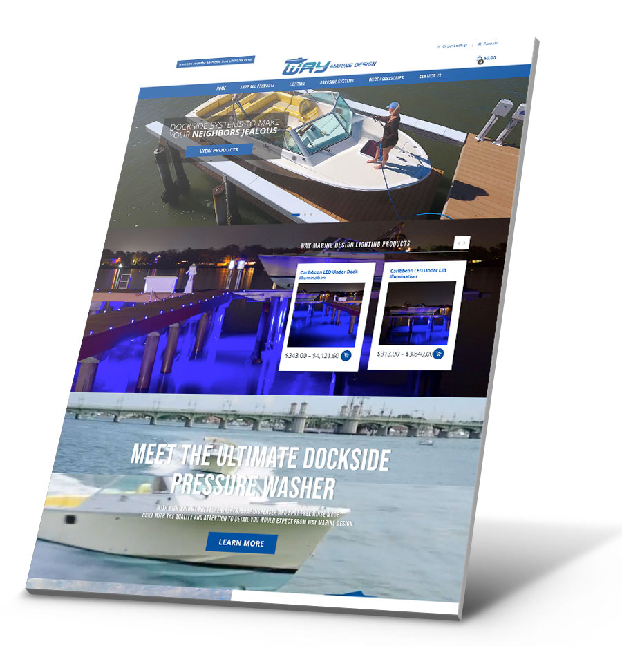 Way Marine Design WordPress Website Design